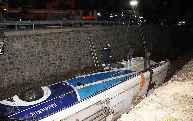 Türkiyədə avtobus kanala düşüb, 8 ölü, 28 yaralı var