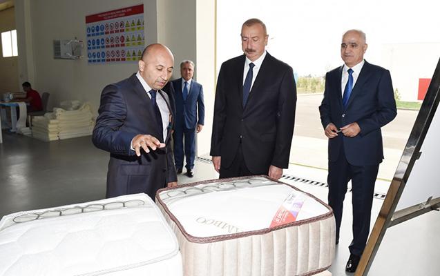 Prezident Masallı Sənaye Məhəlləsinin açılışında