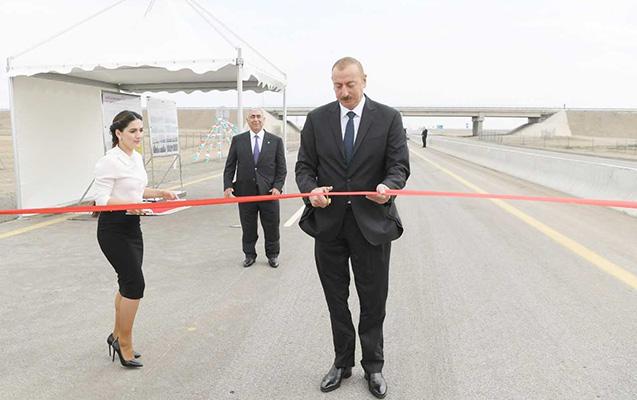 Prezident Ələt-Astara-İran avtomobil yolunun açılışında