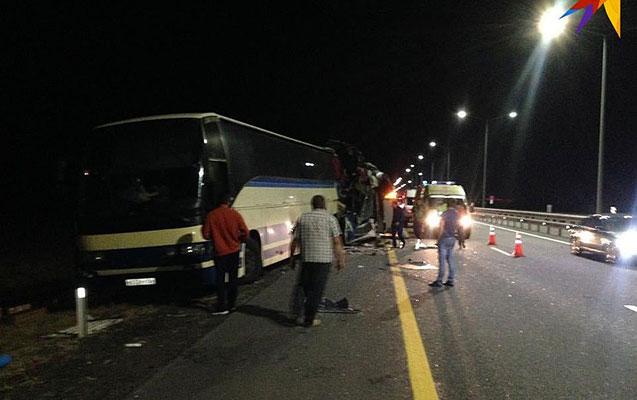 Rusiyada 2 sərnişin avtobusu toqquşdu