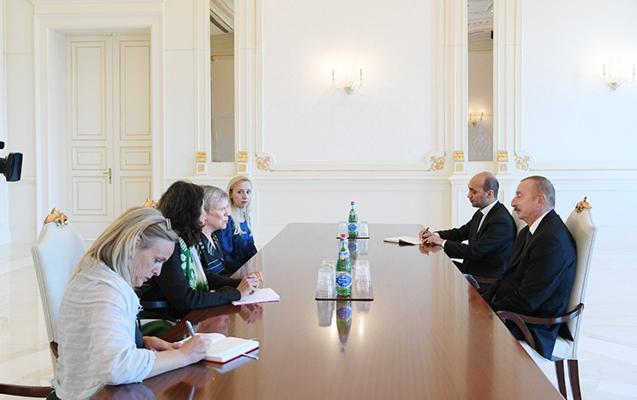 Prezident NATO baş katibinin müavinini qəbul edib
