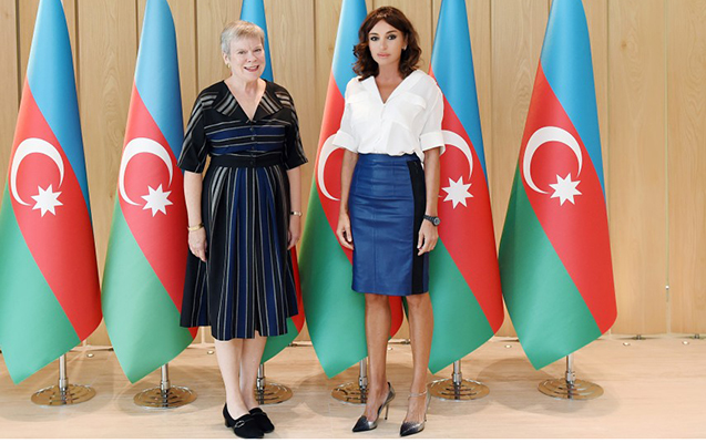 NATO baş katibinin müavini Mehriban Əliyevanın qəbulunda