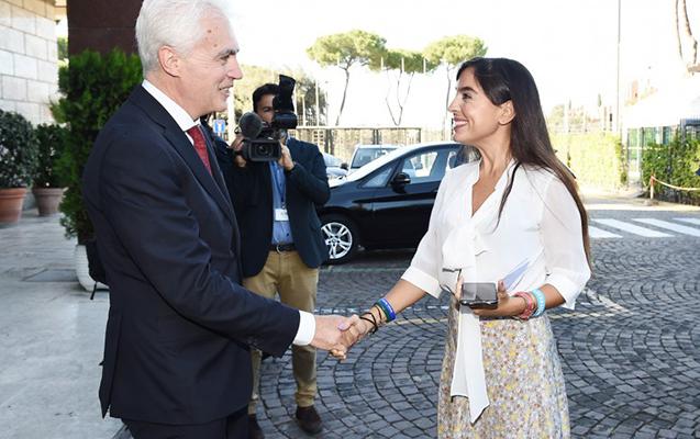 Leyla Əliyeva Romada açılışda