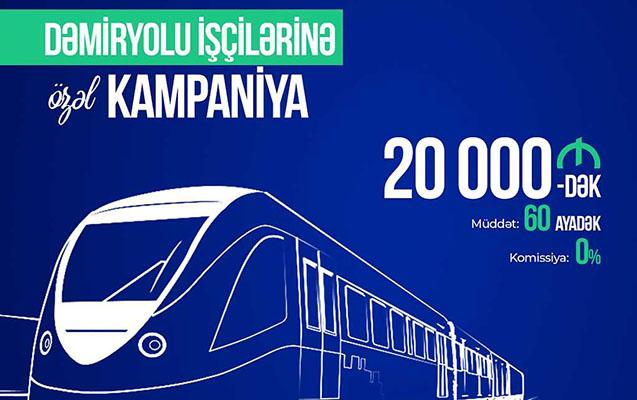 Azərbaycan Beynəlxalq Bankından dəmiryolu işçilərinə özəl kredit kampaniyası!
