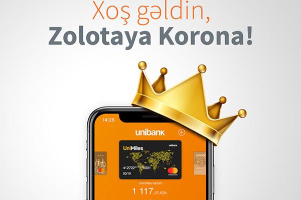 """""""Zolotaya Korona"""" indi Unibank Mobile-da"""