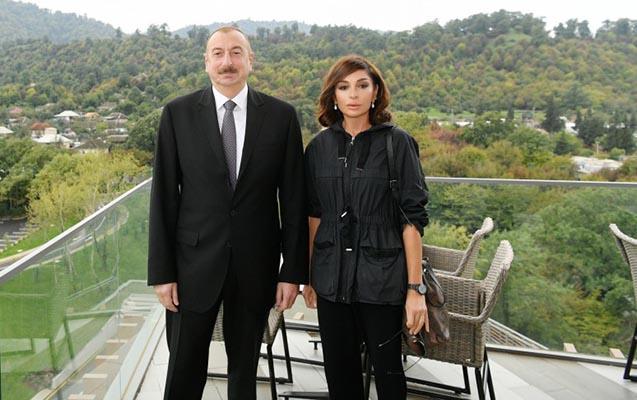 Prezident və birinci xanım Lənkəranda yeni oteldə