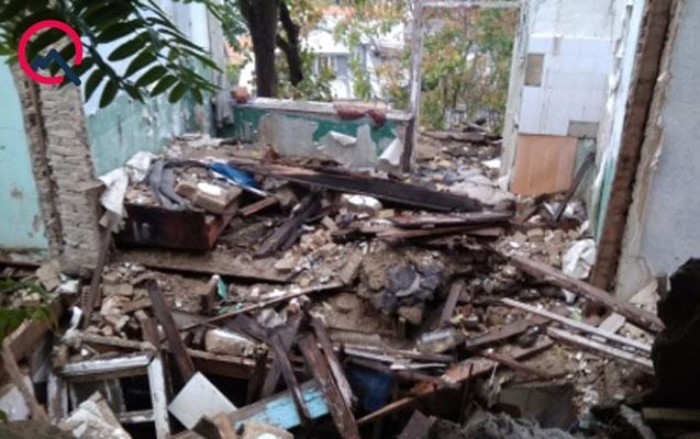 Bayıldakı evlərdən biri tamamilə dağıldı - Rəsmi açıqlama