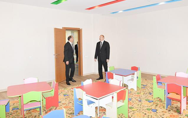 Prezident İmişlidə körpələr evinin açılışında