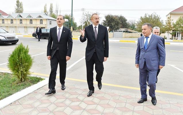 Prezident İmişlidə məhkəmə binasında