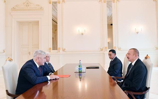 Əliyev Rusiyanın daxili işlər nazirini qəbul edib