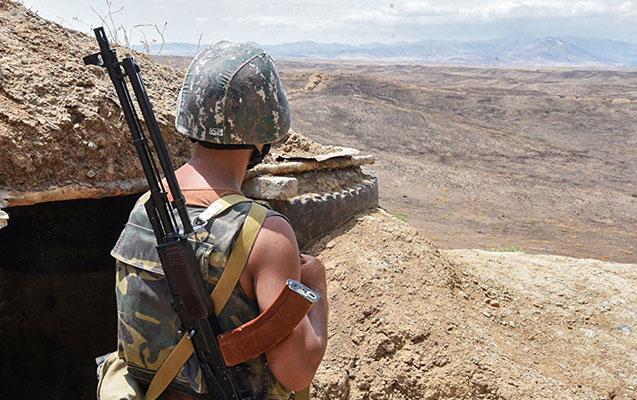 Qarabağda erməni hərbçisi yaralandı