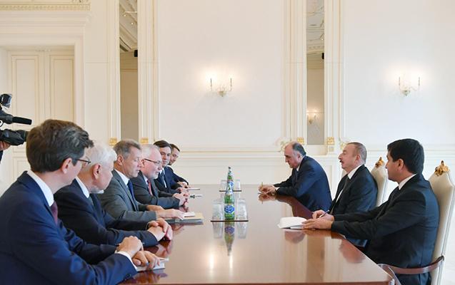 İlham Əliyev Minsk qrupu həmsədrlərini qəbul edib