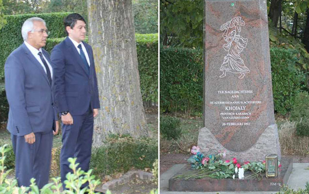 Deputat Hollandiyada Xocalı soyqırımı abidəsini ziyarət etdi - Fotolar