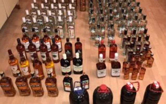 Xeyli sayda aksiz markasız spirtli içki aşkarlandı