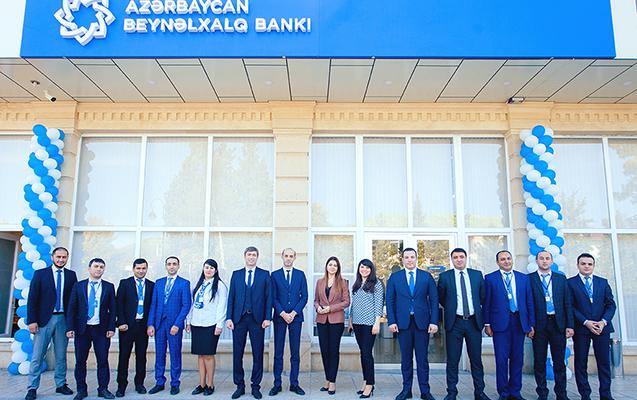 Beynəlxalq Bankın Ucar şöbəsinin yeni binası açıldı
