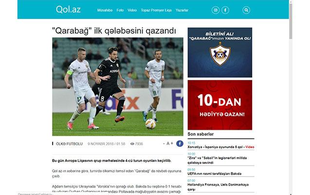 Azərbaycan futbolunda qol az olsa da, qol.az var…