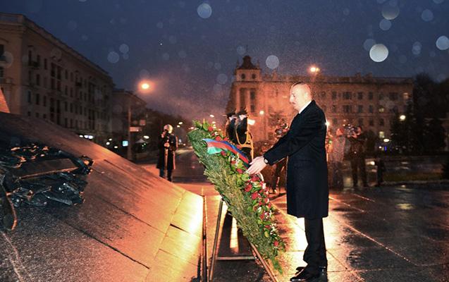 İlham Əliyev Minskdə