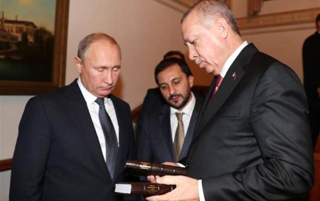 Ərdoğan Putini bu hədiyyə ilə yola saldı
