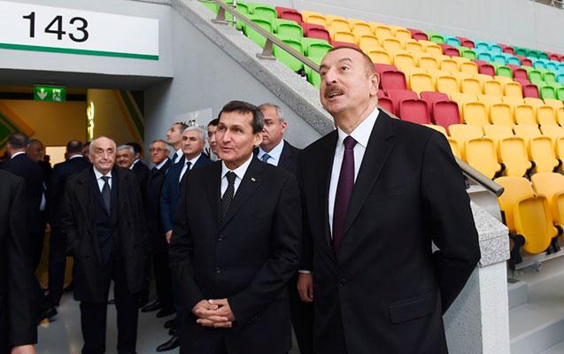 İlham Əliyev Aşqabad Olimpiya Kompleksində