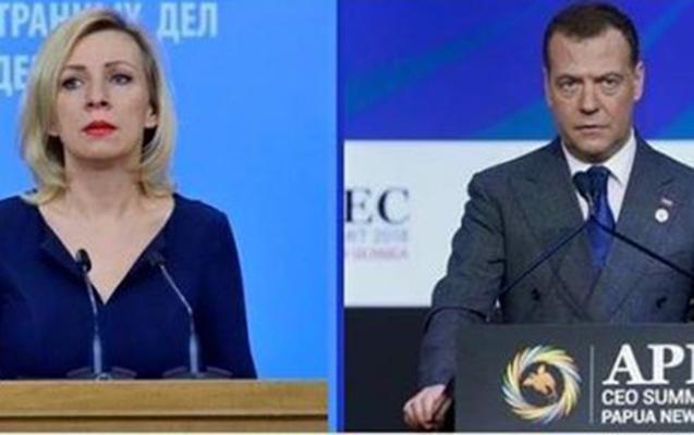 Zaxarova Feysbukda Medvedevlə zarafatlaşdı