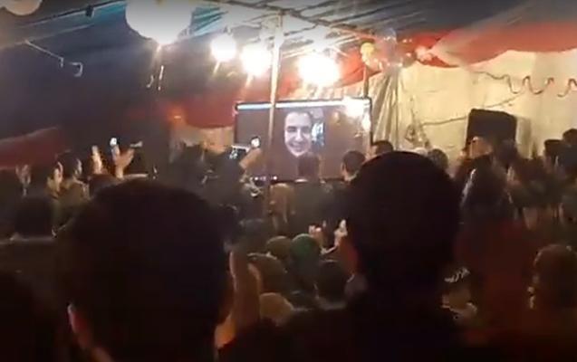 Saakaşvili azərbaycanlıların toyuna canlı qoşulub