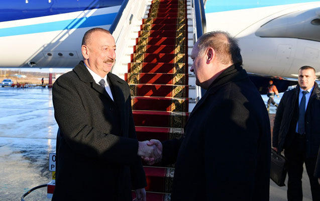 İlham Əliyev Rusiyaya getdi