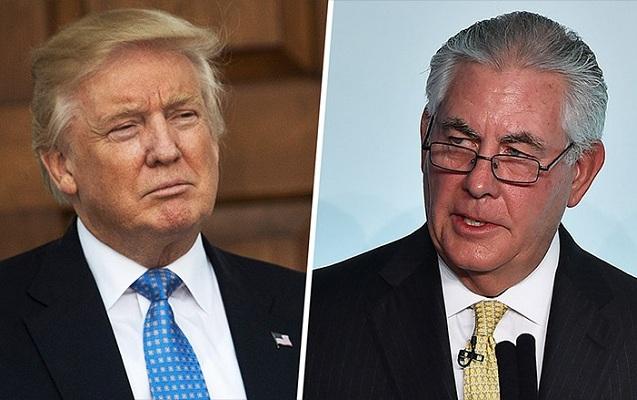 """Tramp Tillersonu """"axmaq"""" adlandırdı"""