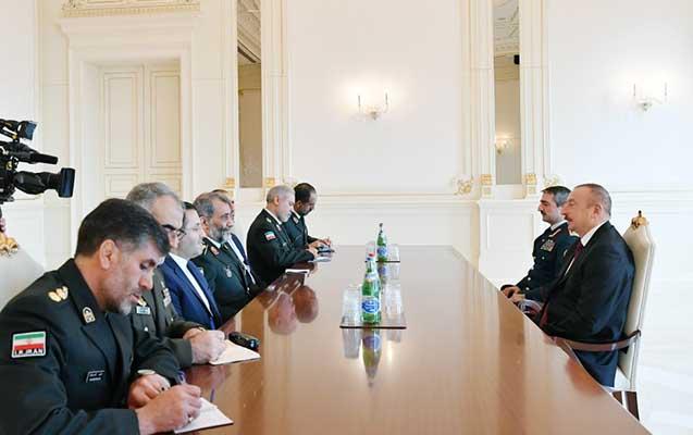 Əliyev İranın Sərhəd Qoşunları komandanını qəbul edib