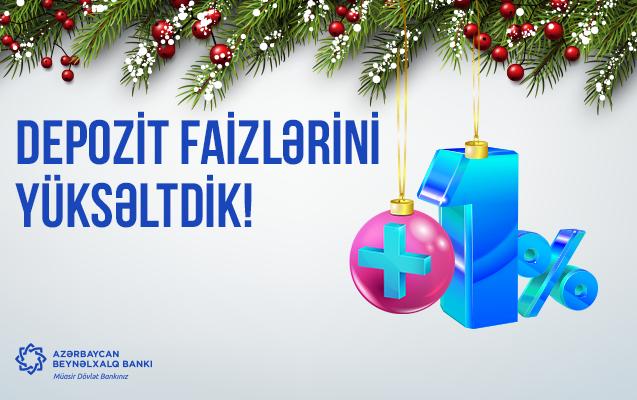 Azərbaycan Beynəlxalq Bankı depozit faizlərini yüksəltdi!