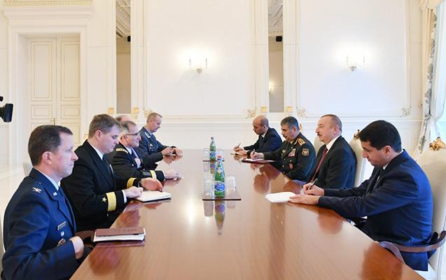 NATO-nun yüksək səviyyəli nümayəndə heyəti Əliyevin qəbulunda
