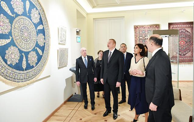 İlham Əliyev və xanımı muzeyin açılışında