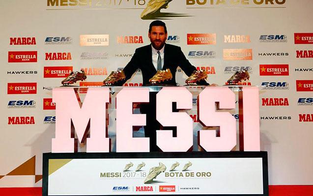 """Messi 5-ci dəfə """"Qızıl ayaqqabı""""nı aldı"""