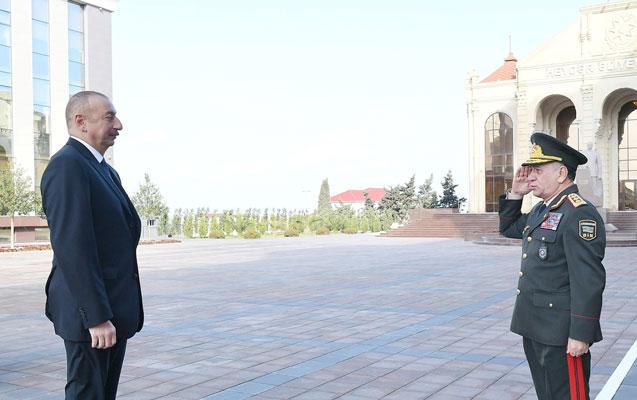 Prezident Polis Akademiyasının yeni binasının açılışında - Foto