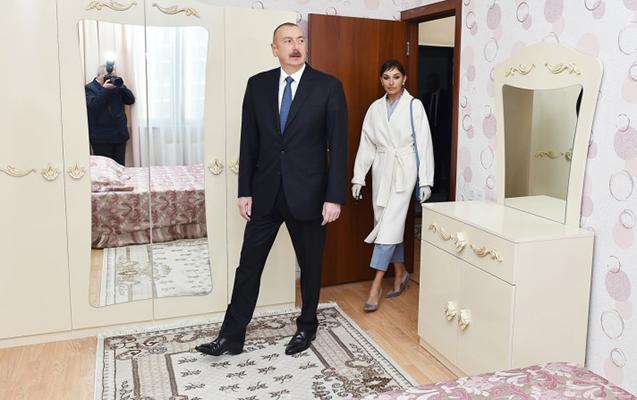 Prezidentlə xanımı Sumqayıtda açılışda