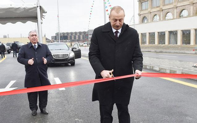 İlham Əliyev yol açılışı etdi