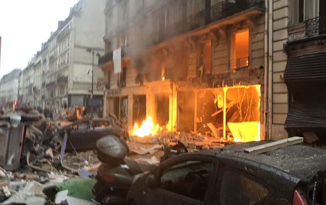 Parisdə güclü partlayış