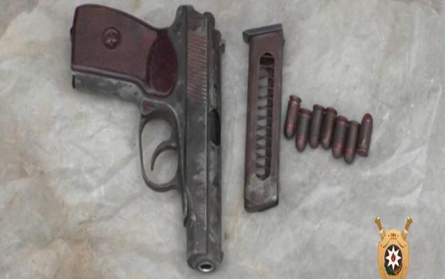 Nardaranda silah-sursat tapıldı
