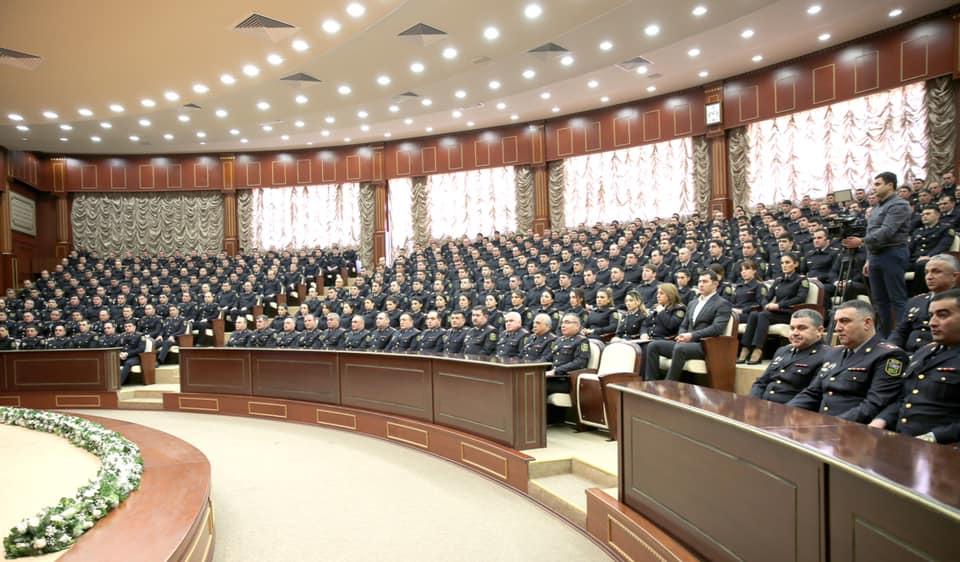 Nazir Çevik Polis Alayında müşavirə keçirdi - Səhlab Bağırov da qatıldı