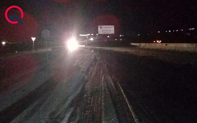 Bakı-Şamaxı-Yevlax yolu buz bağladı