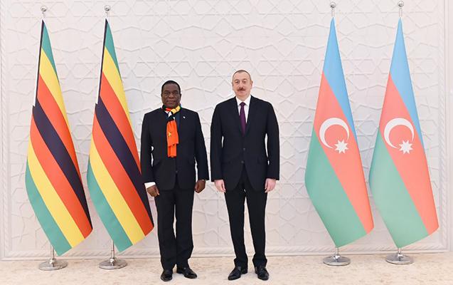 İlham Əliyev Zimbabve prezidenti ilə görüşdü