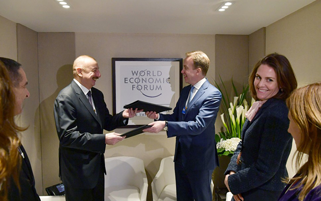 Əliyev Davosda