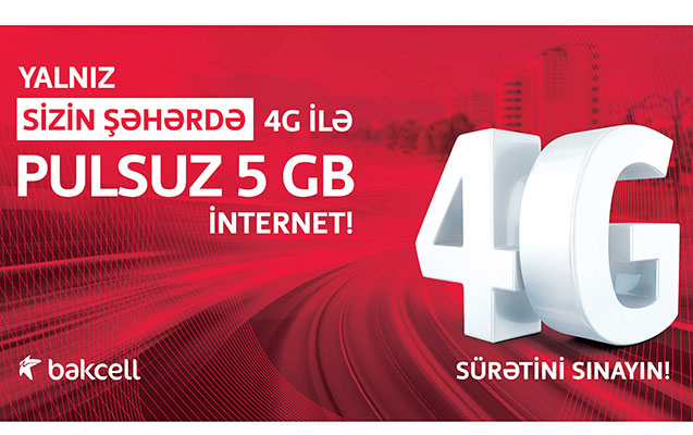 """""""Bakcell""""dən 6 bölgənin sakinlərinə 5 GB pulsuz internet!"""