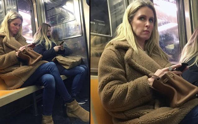 Milyarderin qızı Nyu-York metrosunda