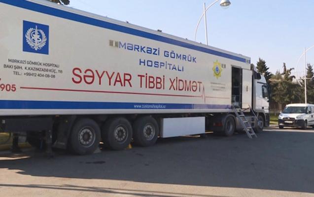 """""""Qırmızı Körpü""""də mobil səyyar hospital xidmətə başlayıb"""