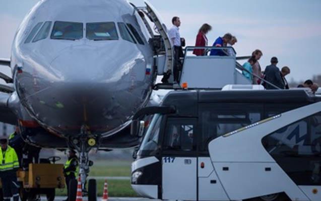 Rusiya aeroportunda insident