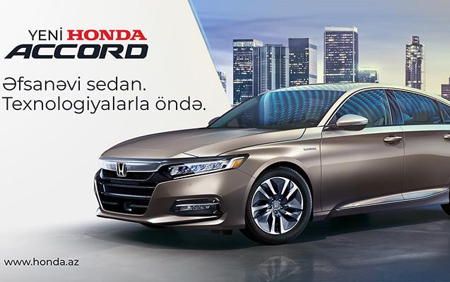 Yeni Honda Accord - üstün güc, üstün texnologiya vəd edir