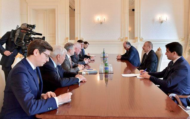 Əliyev ATƏT-in Minsk qrupunun həmsədrlərini qəbul etdi