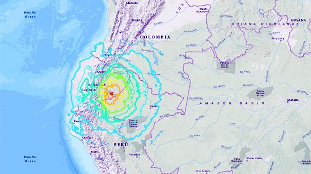 Ekvadordakı 7,5 ballıq zəlzələ daha 3 ölkədə hiss olundu