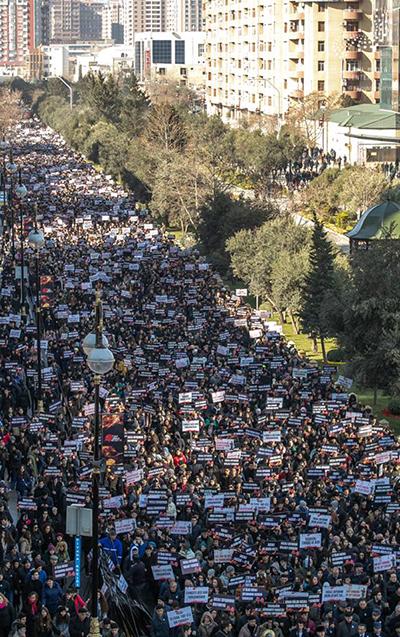 Xocalı yürüşündə 55 mindən çox insan iştirak edib