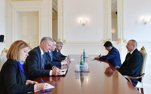 Prezident Avropa İttifaqının nümayəndə heyətini qəbul etdi